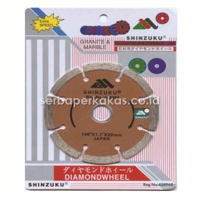 10 Buah Pisau Potong Granit dan Marble 4 Inch Shinzuku Diamond Wheel Dry Extra Speed